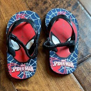 Spider-Man toddler flip flops size 7/8